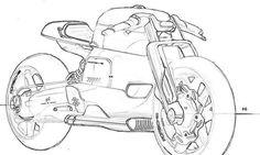 #porsche#motorbike #caferacer #sketch #automotive #street