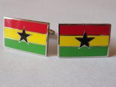 Ghana Flag Cufflinks by LoudCufflinks on Etsy, $25.00
