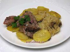 Pečené morčacie na kyslej kapuste so zemiakmi • Recept | svetvomne.sk Cabbage, Beef, Chicken, Food, Meat, Essen, Cabbages, Meals, Yemek