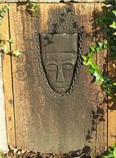 Crantock Holy Well: Close Up of Central Carving