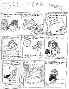 Selfcarethings by Sad Teen Queer
