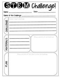 STEM Challenge Recording Sheet More Science Classroom, Science Education, Teaching Science, Elementary Education, Teaching Tools, Teaching Ideas, Stem Science, Kid Science, Science Ideas