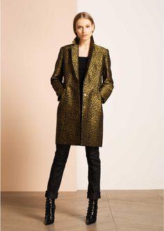 leopard jacquard coat - woman - tara jarmon 3 Threads, Jacket