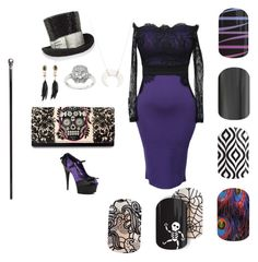 """Jamberry Dr. Facilier"" by courtneyestes on Polyvore featuring beauty, Pleaser, Judith Leiber, Eternally Haute, Alexis Bittar, Loungefly, Alexander McQueen and Chan Luu"