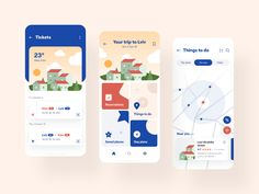 Itinerary guide by Vladimir Gruev for Heartbeat Agency on Dribbble Web Studio, Day Plan, Screen Design, Mobile Design, Show And Tell, Life Images, Ui Design, Interface Design, Graphic Design