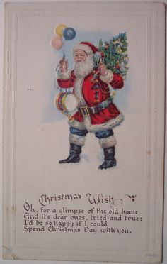 Vintage Christmas Postcard - Santa | Flickr - Photo Sharing!