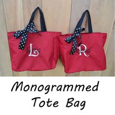 5 Personalized Bridesmaid Gift Tote Bags- Wedding Party Gift- Bridal Party Gift- Initial Tote- Mother of the Bride Gift on Etsy, $45.00