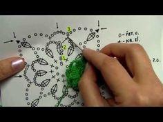 Jak háčkovat a spojovat čtvereček 1 část. - YouTube