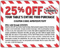 photograph relating to Tgifridays Printable Coupons titled 44 Great TGI Fridays discount codes photos within 2014 Tgi fridays