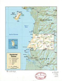#Map of Equatorial Guinea. On VintPrint.com. #poster #Gabon