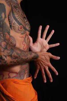 ♂ Yoga man tattoo Sun and Moon mudra