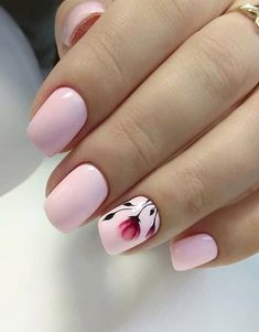 If you want to change your Manicure style and want to wear the New look to enhance your beauty of your finger then just explore here and see the Most Stunning Ideas of Nail Art Designs for the… Cute Nail Art, Cute Nails, Pretty Nails, Flower Nail Designs, Cute Nail Designs, Hair And Nails, My Nails, Nail Candy, Girls Nails