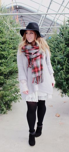 A layered holiday look from Zoe With Love