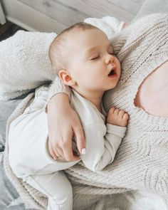 There is always that moment of sleepy faces and cuddle time that we all just need to stop and appreciate because it won't last forever...Evie & Adrienne || Sustainable Baby Clothing and Accessories || Made in America || Be The Good || Fertility Awareness