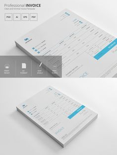 Invoice Template. Stationery Templates. $6.00