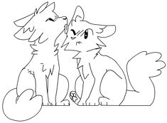 Cat Couple, Warrior Cat Drawings, Warrior Cats, Art Drawings Sketches, Animal Drawings, Diy Cat Bed, Animals, Ideas, Sketches