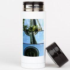 Seattle Space Needle #Triptych Tea Tumbler on CafePress.com #Seattle #souvenir #FiftyShades