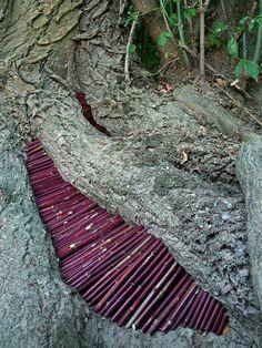 """""""Wild Idea"""", ou les créations de land art de l'artiste français Ludovic Fesson, qui utilise les matériaux ramassés sur place pour imaginer des structures g"""