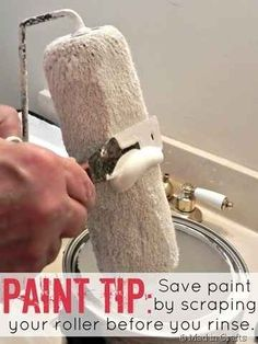 Here's a frugal paint-saving roller trick: