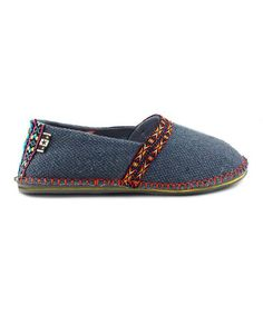 Take a look at this Navy Cotton Hicky Slip-On Shoe by TigerBear Republik on #zulily today!
