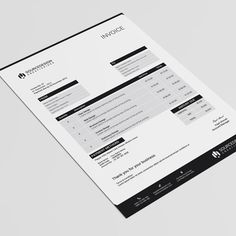I'm Available for freelance work. Get in touch: Better View Project Name: Corporate Invoice Description: A professional and sharp invoice for commercial and Invoice Format In Excel, Printable Invoice, Invoice Template, Resume Templates, Invoice Design, Letterhead Design, Identity Design, Brand Identity, Stationery Templates