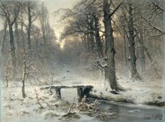 A January Day 1875, Louis Apol #winter #fantasy #nature