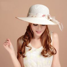 New 2014 Spring Summer Sun Beach Wide Brim Ladies Floppy Hat Multicolorful Hat Retro Fedora Retail Girls Sun Hats For Women(China (Mainland))