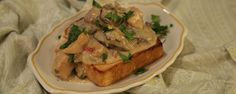 A great option for your leftover chicken! ingredients CHICKEN A LA KING OVER TEXAS TOAST 2 tablespoons olive oil 1 pound boneless and skinless chicken breasts (cut into 3 The Chew Recipes, Dinner Recipes, Cooking Recipes, Dinner Ideas, Turkey Recipes, Chicken Recipes, Texas Toast, Fast Dinners, Winner Winner Chicken Dinner