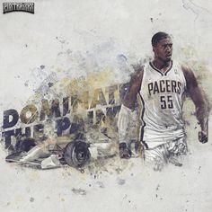 Roy Hibbert 'Dominate' Wallpaper | Posterizes.com - NBA Wallpaper Artwork