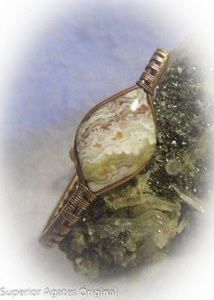 Mexican Crazy Lace Agate Wire Wrapped Copper by superioragates, $30.00
