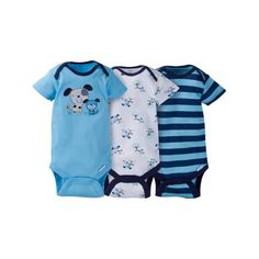 Gerber Boy 2-Pack Blue Dinosaurs Lap Shoulder Gowns Size 0-6M BABY CLOTHES GIFT
