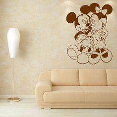 Minnie Mickey Mouse Valentnie Love Kids Wall Decor Sticker Design Bedroom K10 | eBay
