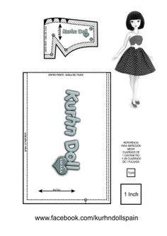 "Basic dress pattern for 11.5"" Chinese Doll named Kurhn smaller then barbie! patrón basico de vestido para muñeca chinesa llamada Kurhn, mas pequeña que la Barbie."