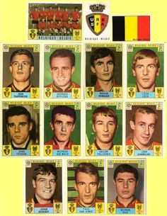 Belgium 1970 from the Panini Stickers Book