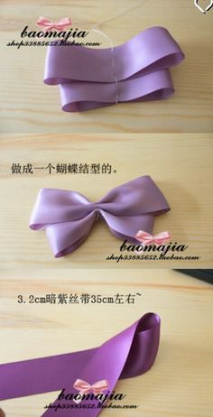 Handmade Hair Bows, Diy Hair Bows, Diy Bow, Diy Ribbon, Ribbon Hair, Bow Hair Clips, Ribbon Crafts, Ribbon Bows, Bow Making Tutorials