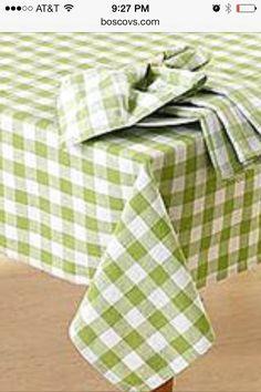 Light green picnic table cloths