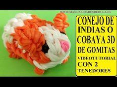 COMO HACER UN CONEJITO DE INDIAS O COBAYA 3D DE GOMITAS CON DOS TENEDORE...