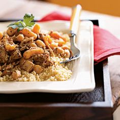 Moroccan Chicken Thighs from MyRecipes.com #myplate #protein
