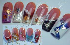De l'abstrait… Inspiration Bianca Friedrich✖ . Nail Art Designs, French Nail Designs, Beautiful Nail Designs, Acrylic Nail Designs, Winter Nail Art, Winter Nails, French Nails, Nail Art Violet, Nail Art Abstrait