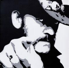 Lemmy Kilmister 40x40cm von toxicstills: Gemaltes, Gesprühte, Gebasteltes...  auf DaWanda.com