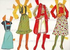 Malibu Superstar Barbie Vintage Fashion Paper by mindfulresource