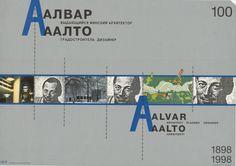 Alvar Aalto. Architect, planner, designer. Viipuri, Venäjä, 1998.