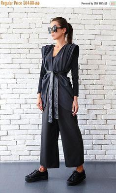 SALE Dark Grey Maxi Top / Casual Vest / Official Top / Elegant