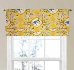 11 Different Styles of Valances, Explained Faux Roman Shade Valance in Yellow Valance Window Treatments, Kitchen Window Treatments, Custom Window Treatments, Window Coverings, Small Window Curtains, Drapes Curtains, Burlap Curtains, Country Curtains, Custom Valances