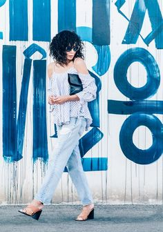 Pair a flowy top with these jeans