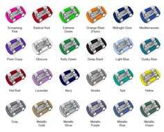 colors of braces ties