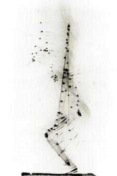 Négatif Digital de Etienne Jules Marey: Saut à pieds joints en détente à la verticale - 1884