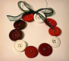 christmas - Christmas Ornament - Easy Christmas Crafts -Create Homemade button Christmas Ornaments