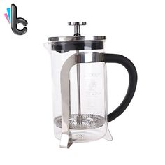Classic French Press Pot Coffee Tea Filter Pot Glass Teapot Stainless Steel Coffee Supplies