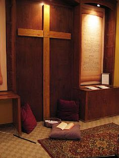I've always wanted a prayer room in my house. With a painting canvas, music, guitar, notebooks to write in, etc.
